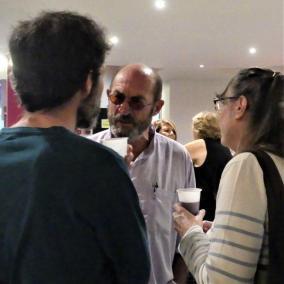 Mercredi 6 Juin - Le verre de l'amitié au bar du cinéma avec Juan Madrid