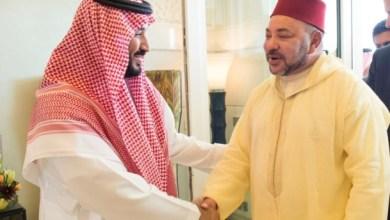 Photo of الملك يتوصل ببرقية تهنئة من ولي العهد السعودي