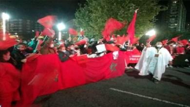 صورة الجالية المغربية تخرج للاحتجاج بتراغونا وتؤكد دعمها المطلق للتدخل المغربي في الكركرات