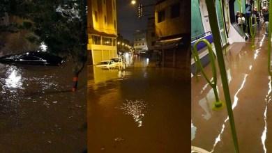 """صورة بعدما غمرت المياه معظم شوارعها.. رصد 233 شاحنة لإنقاد """"كازا"""" من الغرق"""