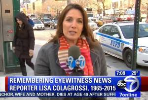 WABC Eyewitness News reporter Lisa Colagrossi died at the age of 49 during an assignment on Thursday, Mar. 19 -- details Credit: ABC News