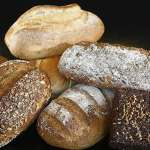 assorted bread types including sourdough bread loaves