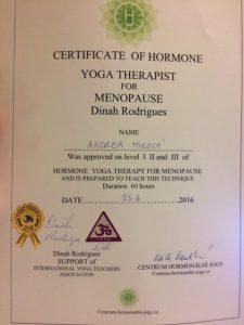 Hormone yoga therapy certificat