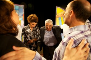 Our Team Praying on the Set of Church 7