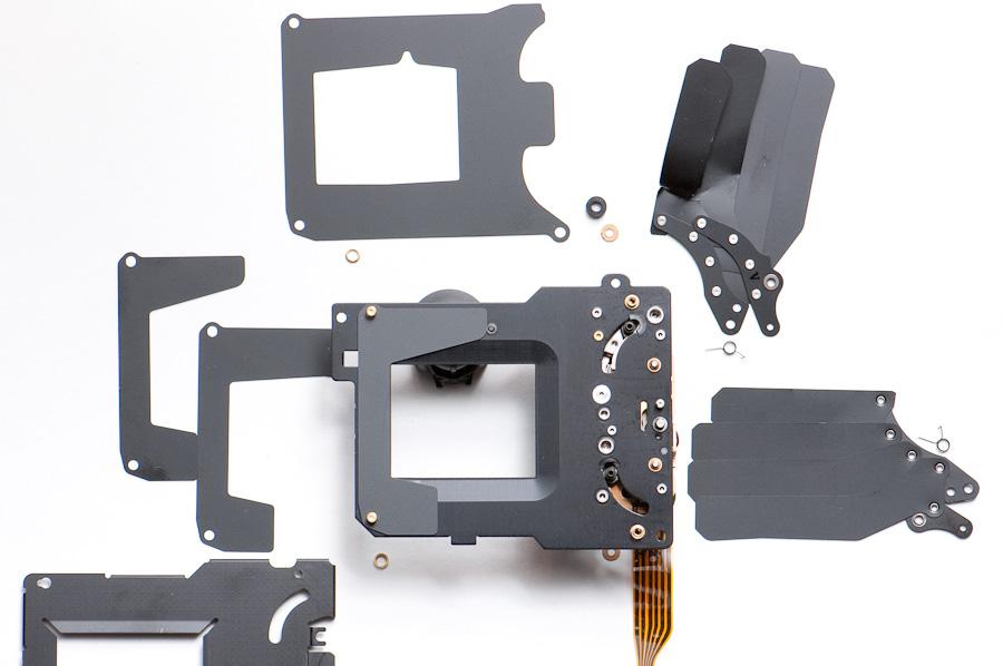 D2H shutter disassembled