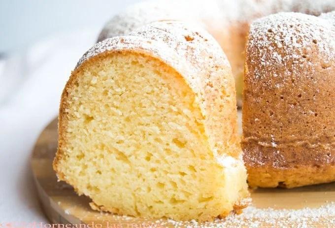 Bundt cake de queso