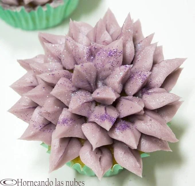 Cupcakes de naranja y violetas