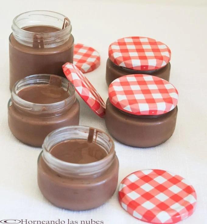 Natillas de chocolate.