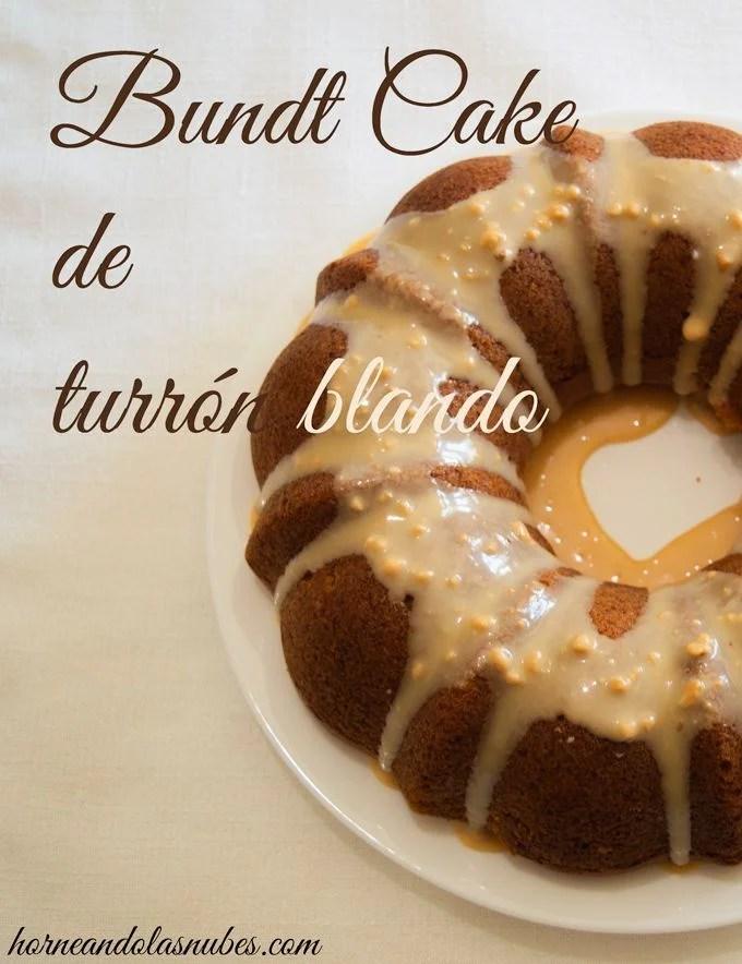 Bundt Cake de turrón blando