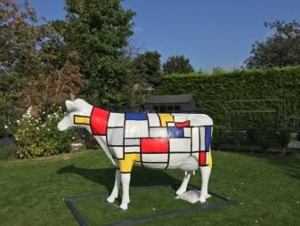Mondrian Fibreglass Cow Model