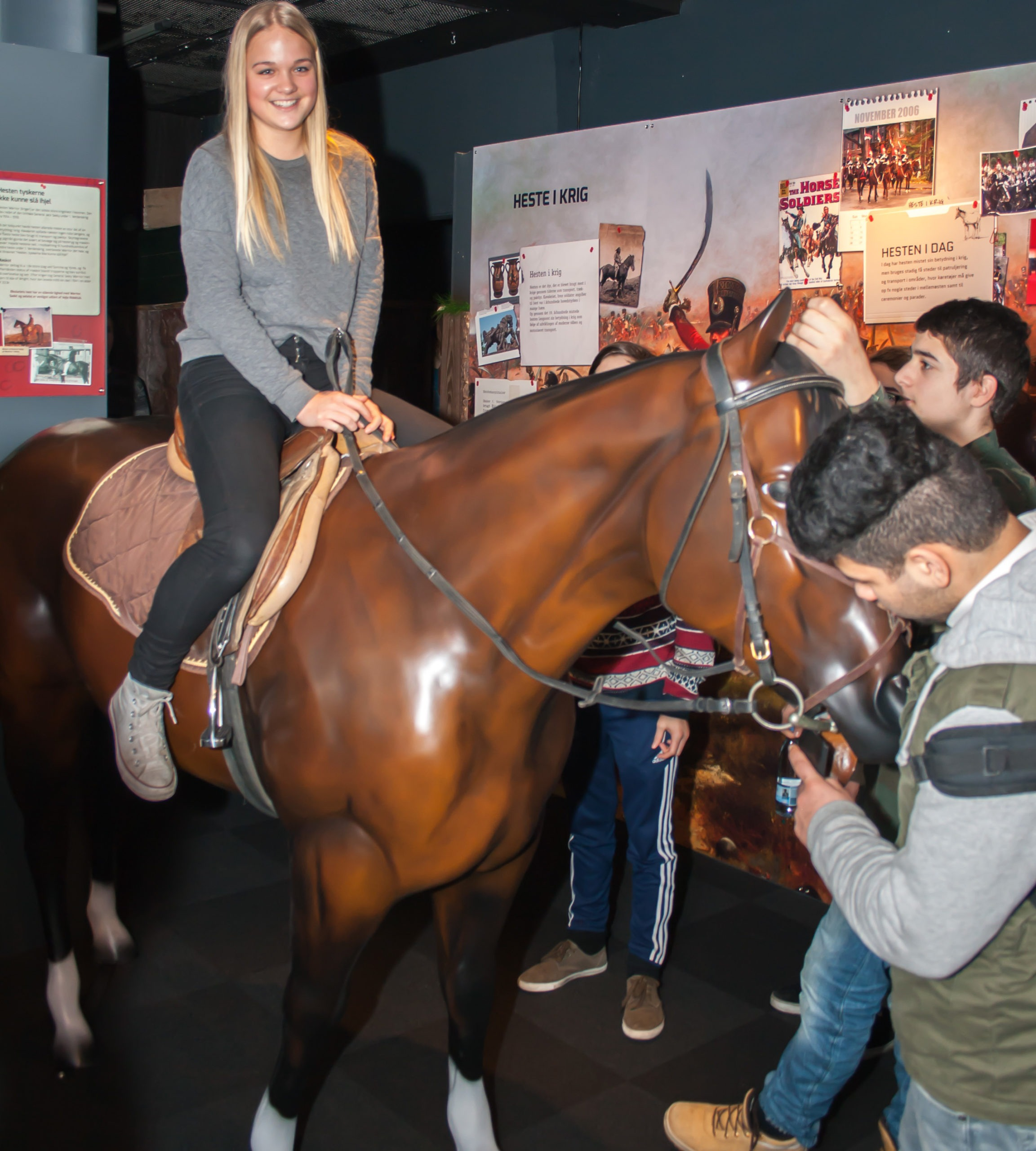 Bay Horse Model at Danish War Exhibition