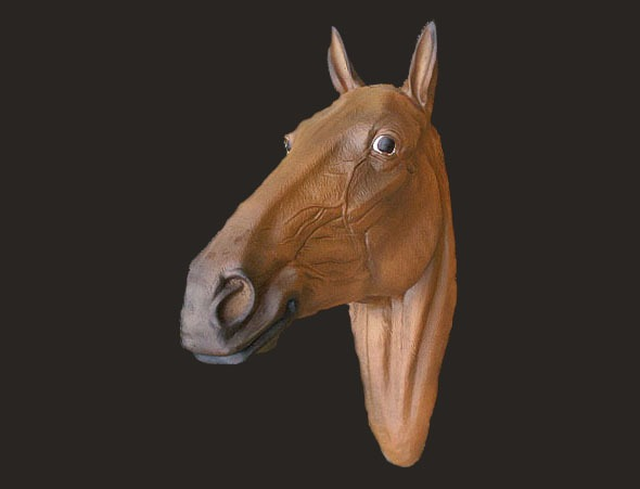 Chestnut Horse head Model