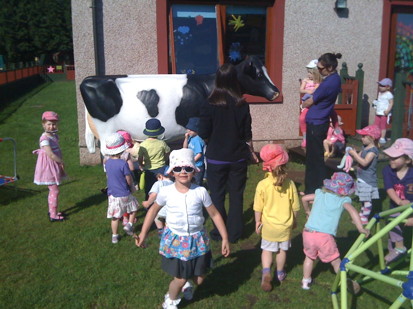 3D Milking Cow being admired at a Nursery School
