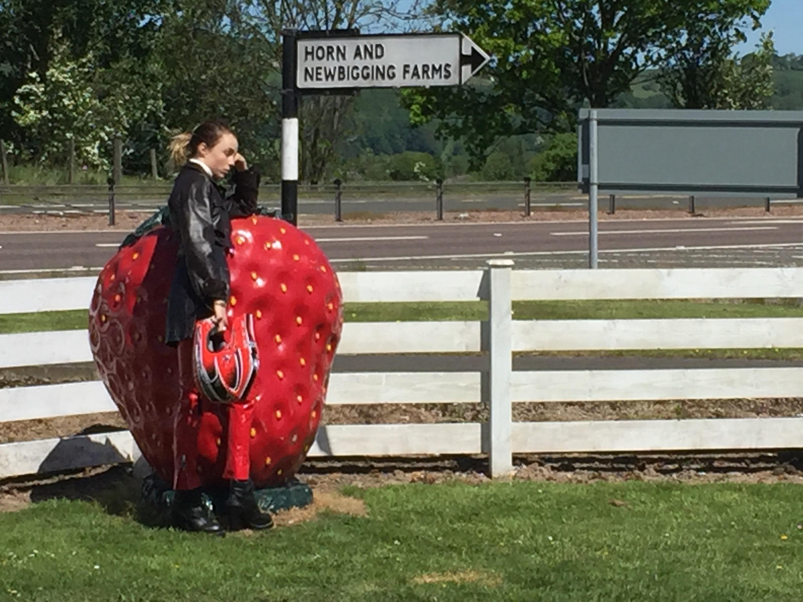 Vogue Photoshoot Giant Strawberry Model