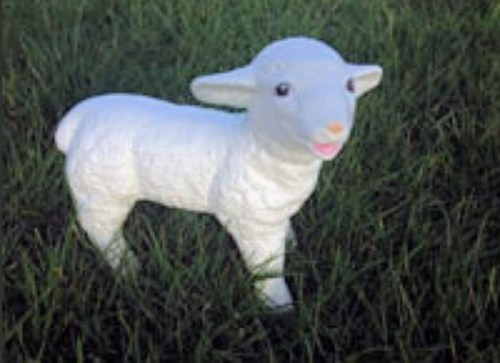 Life Size Model Baby Lamb Standing Small