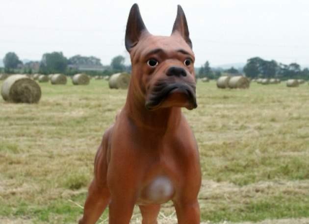 Fibreglass Resin Boxer Dog Model