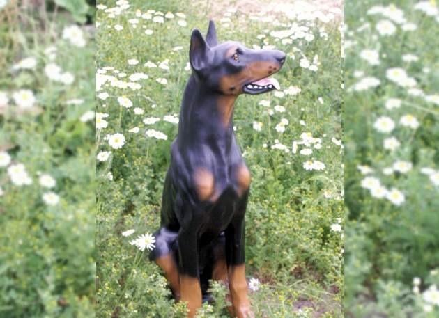 Life Size Model Doberman Dog
