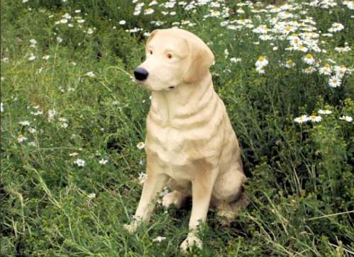 Life Size Labrador Dog Sitting Model