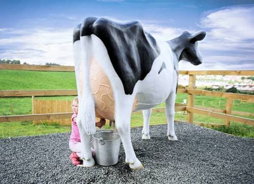 Black & White Model Milking Cow