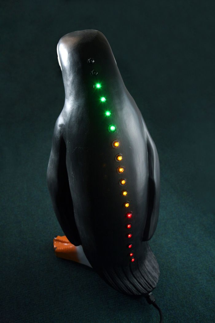 Peachy Keen Model Penguin Statue