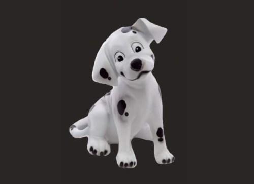 Dalmation Puppy Dog Sitting Model