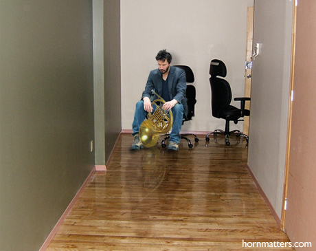 Keanu waits at an audition.