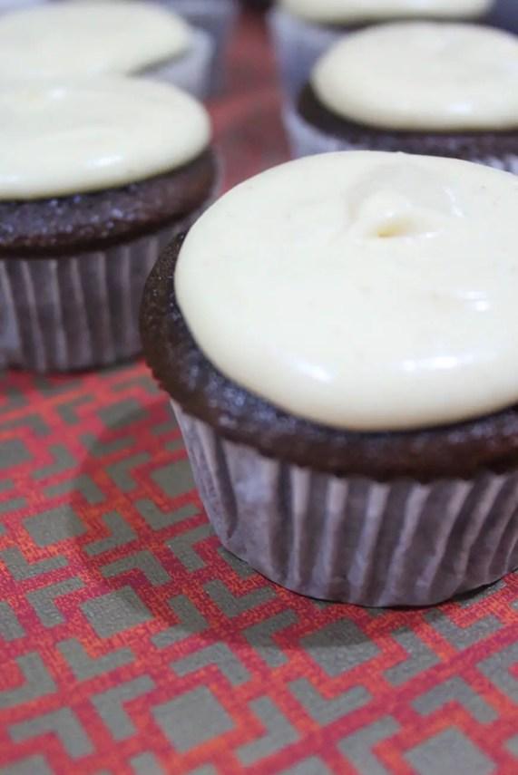 Cupcakes de chocolate y chai caseros