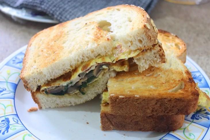 Sandwich de omelette receta