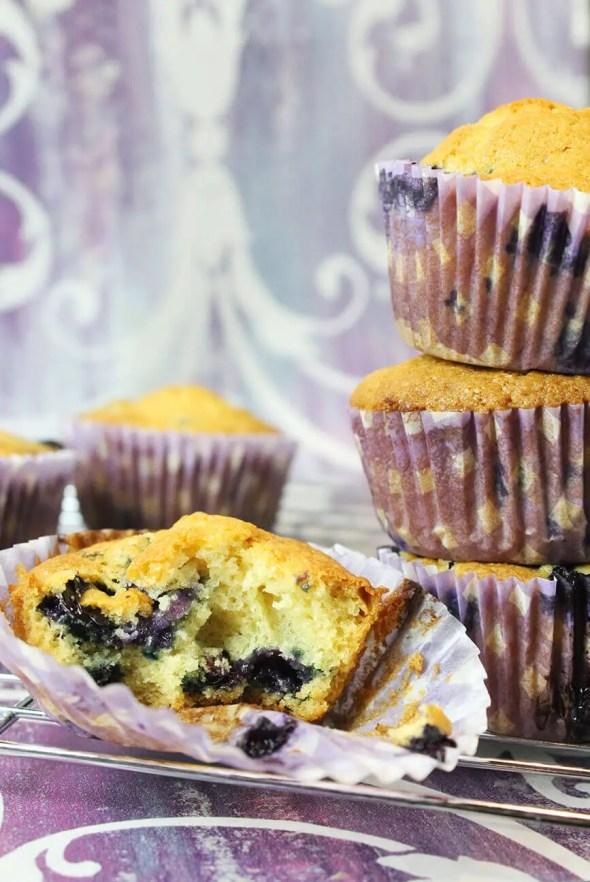 Muffins de blueberries caseros