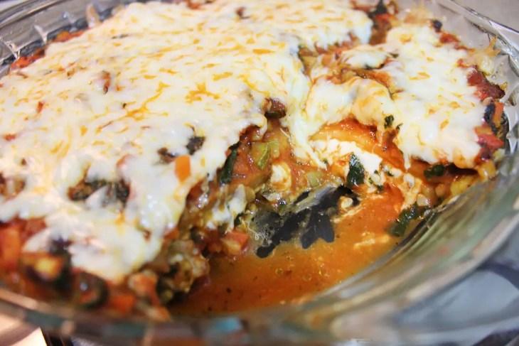 Eggplant pasta vegetarian lasagna recipe