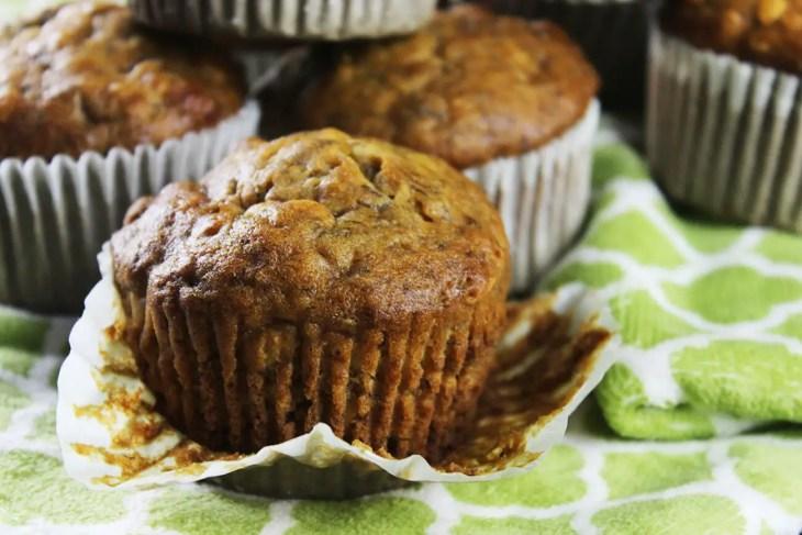 Muffins de plátanos caseros la mejor receta