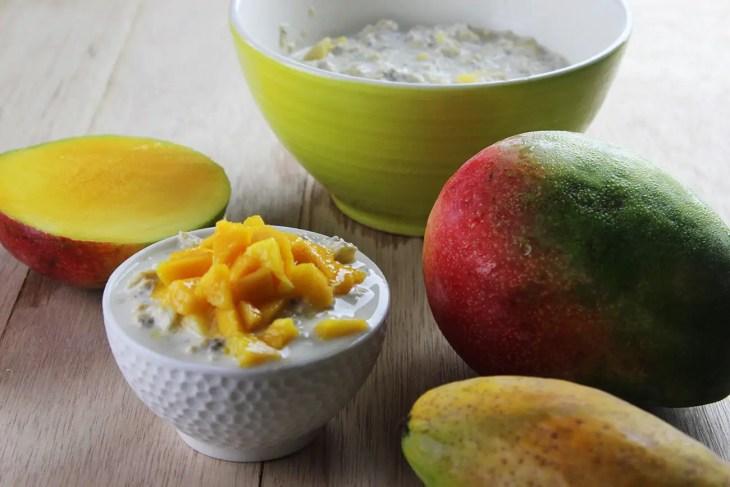 avena fría con fruta