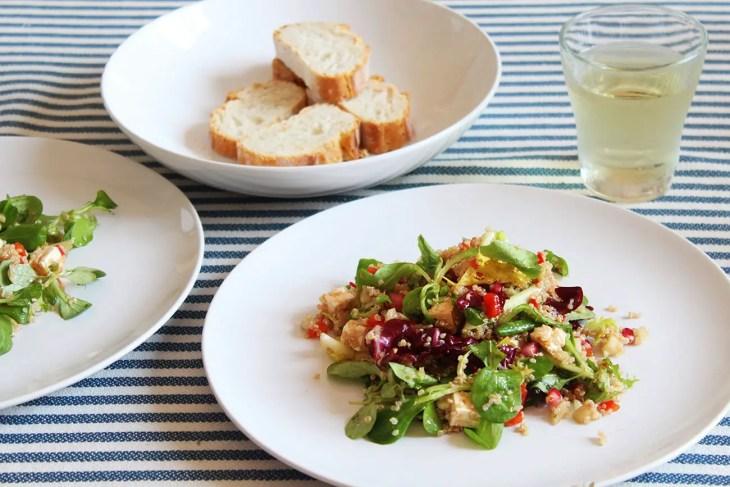 Ensalada de quinoa fácil y rápida.