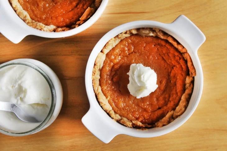 Mini sweet potatoe pies