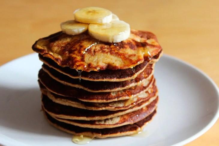 Gluten free healthy banana pancakes