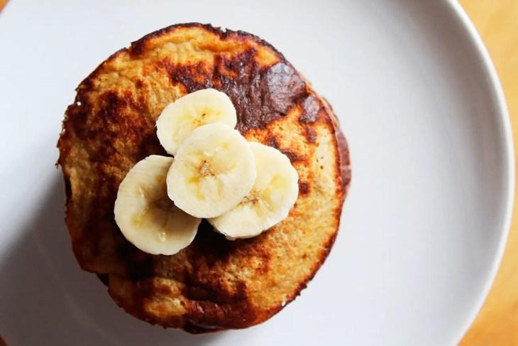 Panqueques de plátano sin gluten