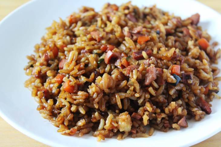 Homamade chinese fried rice