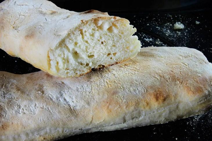 No-knead ciabatta recipe