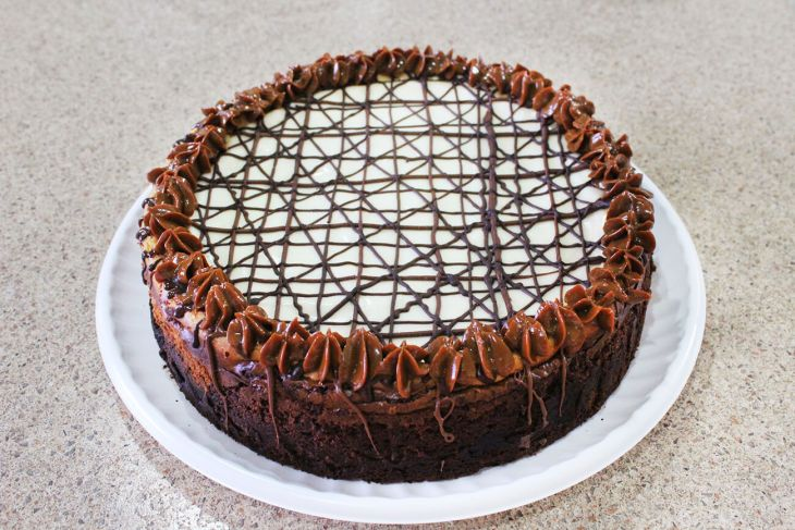 Receta de cheesecake con brownie
