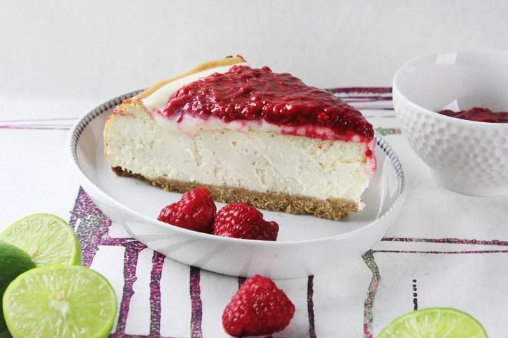Raspberry lime cheesecake recipe