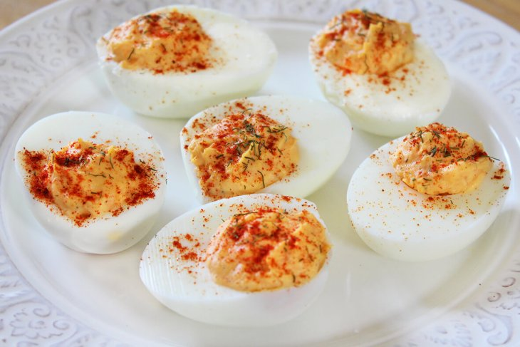 La mejor receta de huevos rellenos