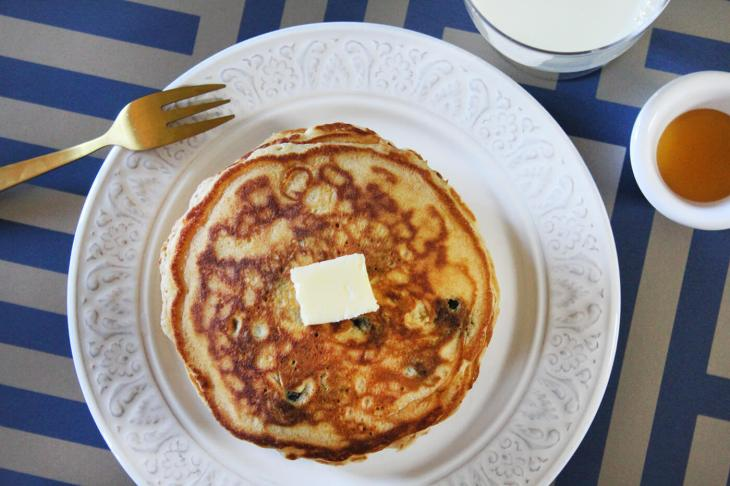 Receta de pancakes de blueberries