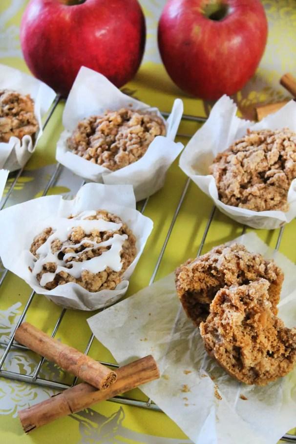 How to make glazed apple crumb muffins