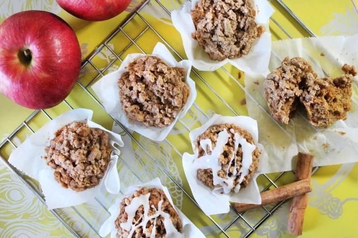 Muffins de manzana con crumble