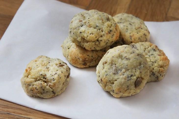 Galletas de mantequilla con semillas de amapola y sésamo receta