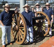 """Texas Silver Spurs in charge of """"Smokey"""" the cannon-"""