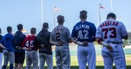 A few of our Texas Alumni team and our National Anthem