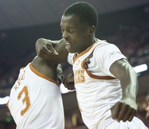 Sophomore guard Courtney Ramey scored a career-high 21 points, but the rest of the Texas men's basketball team mustered just 31 more in the Longhorns' 87-52 loss at Iowa State (photo courtesy of texassports.com).