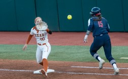 Miranda Elish and the Texas softball team finished the season ranked No. 1 in the final Softball America poll (photo courtesy of texassports.com).