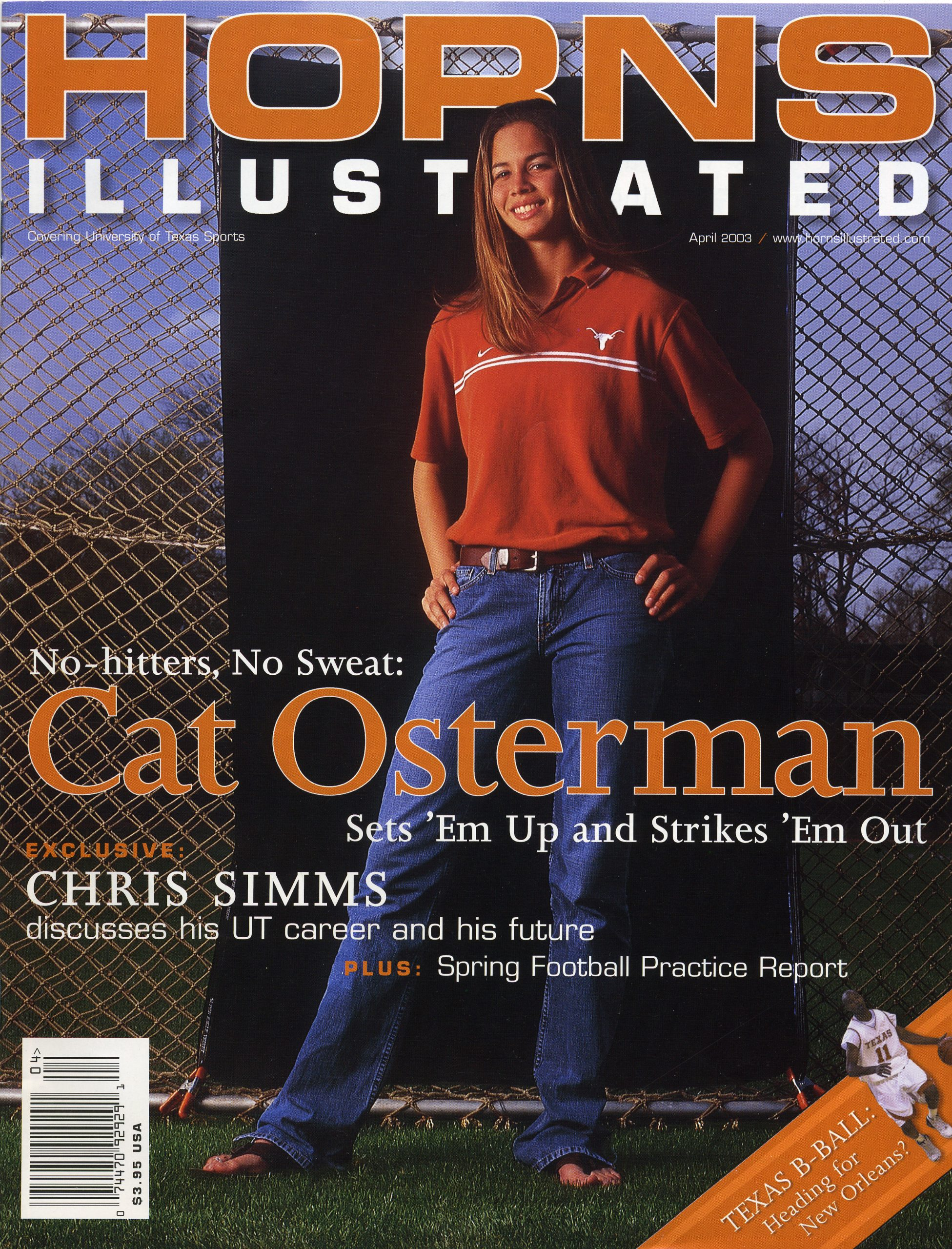 Horns Illustrated Apr 2003 - Cat Osterman Cover
